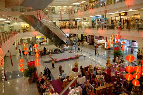 Photo Stands Kuala Lumpur malaysia, kuala lumpur: shopping centre during chinese new year