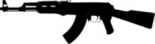 Ak-47 Assault Rifle Clip  Art W/ Clipping Path