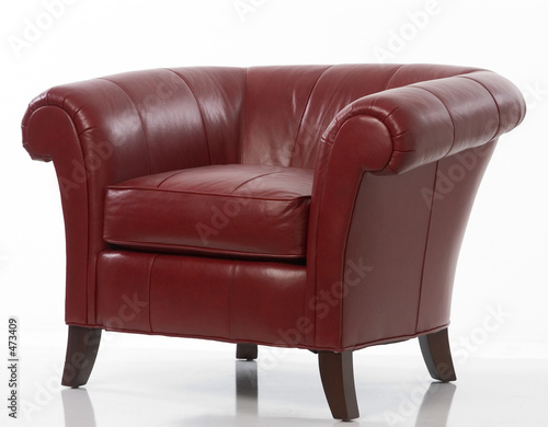 Fotografie, Obraz  red leather chair