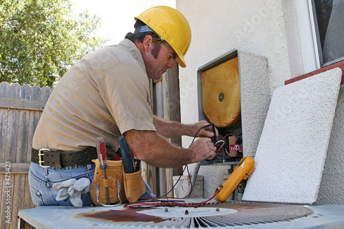 Fotografia, Obraz  air conditioning repairman 3