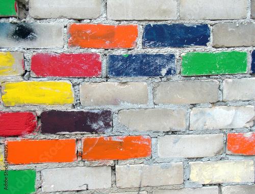 Photo colourful bricks wall