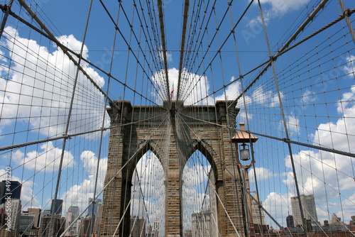 Printed kitchen splashbacks Brooklyn Bridge new york on the brooklyn bridge