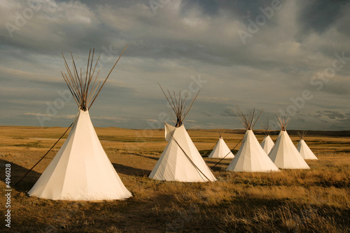 tipi village Canvas Print