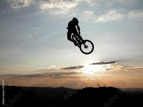 Fotografia mountain bike jump