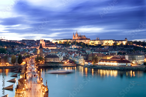 Photo  prague castle cityscape