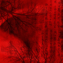 Chineese Red Background With S...