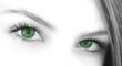 Leinwandbild Motiv green eyes