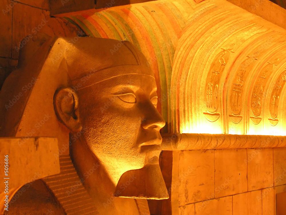 Foto-Stoff bedruckt - profile of egyptian mask