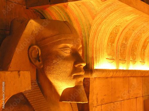einzelne bedruckte Lamellen - profile of egyptian mask (von Nicky Rhodes)