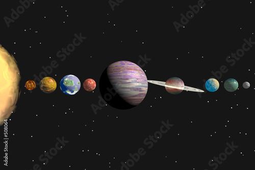 Obraz na plátně solar system