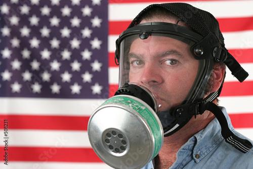 Photo  american gas mask horizontal