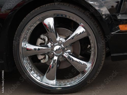 mustang wheels Canvas