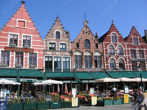 Keuken foto achterwand Brugge häuserzeile in brügge