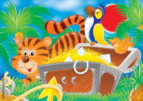 Poster de jardin Zoo treasures