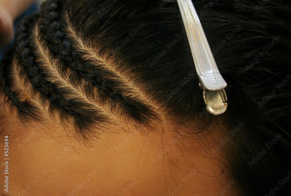 Fototapety, obrazy: braided hair