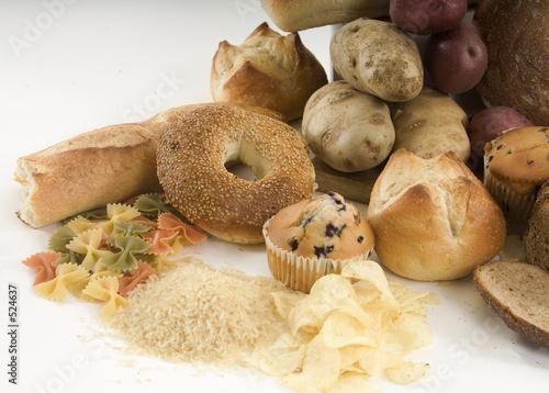Fotografía  bagels and other carbs