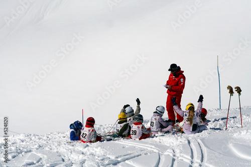 Obraz na plátně cours ski enfants
