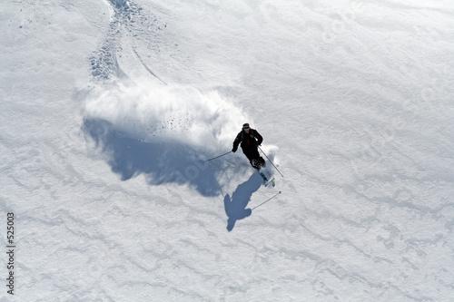 ski poudreuse Fototapet