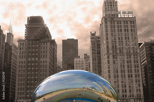 Staande foto Chicago chicago downtown