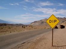 """Caution """"dip"""""""
