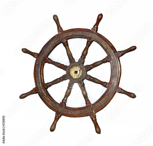 Tuinposter Schip wheel