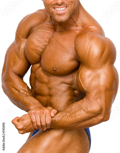 Photo  bodybuilder isolated
