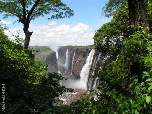 Foto auf AluDibond Wasserfalle victoria falls zambia