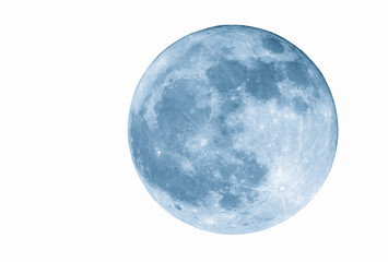 2400mm blue full  moon, isolated