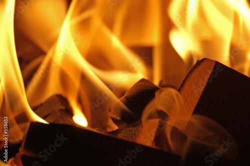 Fotobehang Vuur flames #42
