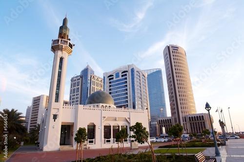 Vászonkép abu dhabi mosque