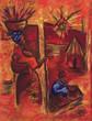 canvas print picture afrique pastel