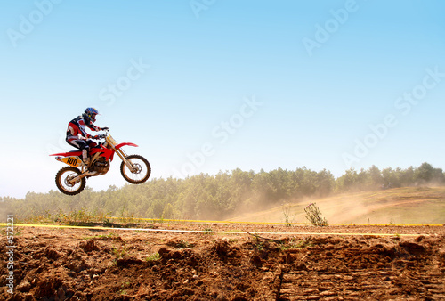Photo  motocross jump