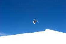 Somersault Ski Jump On Slopes Of Ski Resort In Spain