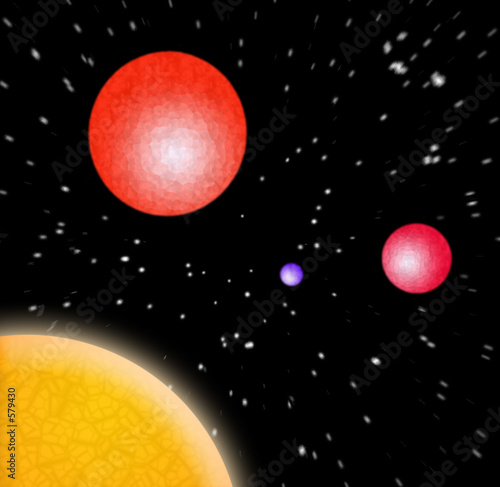 3d planets in space Canvas Print
