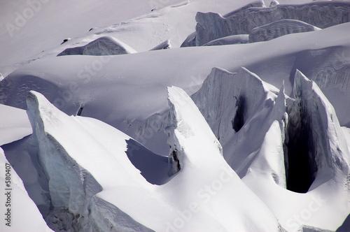 aristas de hielo Canvas Print