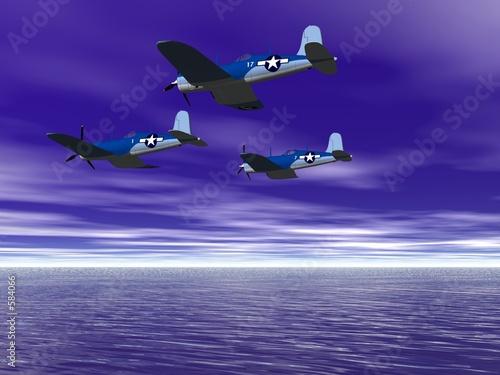 Valokuvatapetti old fighter squadron