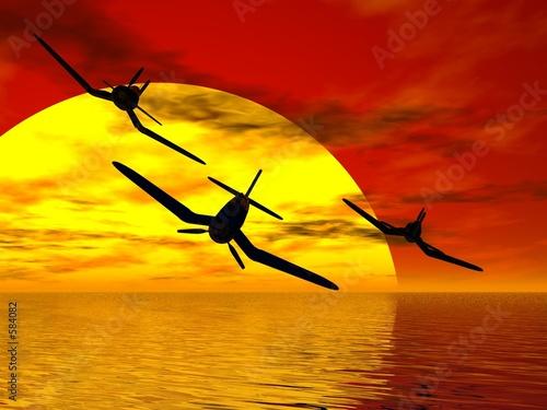Valokuva sunset squadron