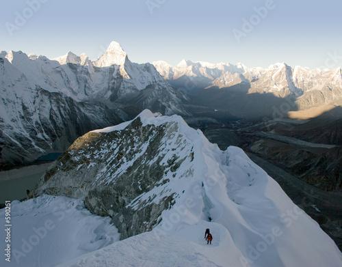 island peak - nepal Billede på lærred
