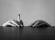 rauchende hände