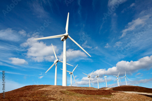 Poster Molens wind turbines farm