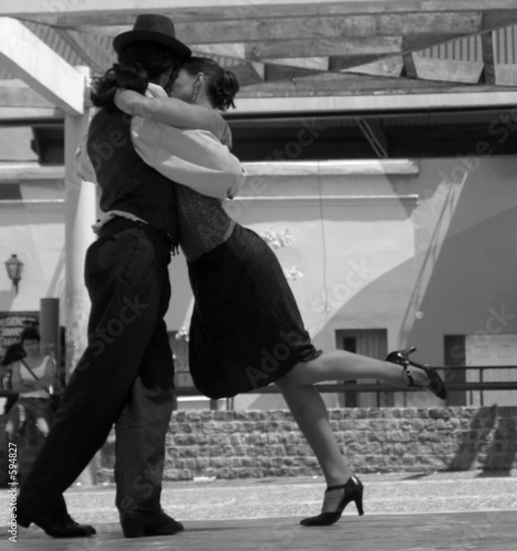 Photo tango dancers in buenos aires