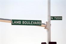 Streetsign: Lamb Boulevard