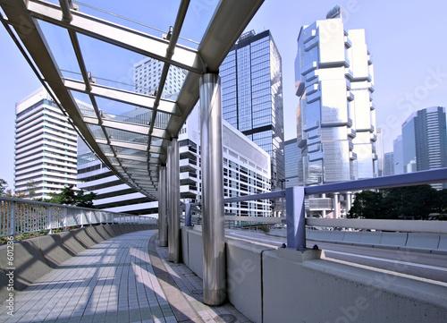 Photo  hong kong pedestrian walkway