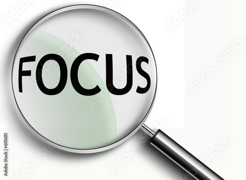 focus magnifying glass Fototapet
