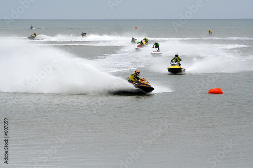 Poster Nautique motorise competition jet-ski