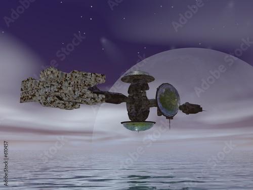 statek-kolonizacyjny-nad-oceanem-nieznanej-planety