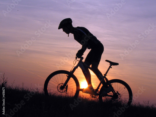 Deurstickers Fietsen cycling