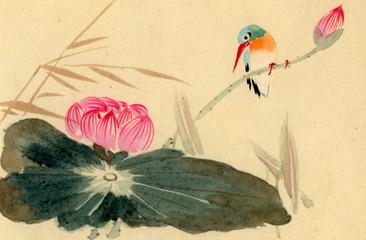 Panel Szklany Orientalny swamp bird