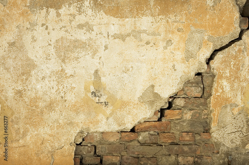 Foto op Plexiglas Wand wall texture - perfect grunge background with space for text
