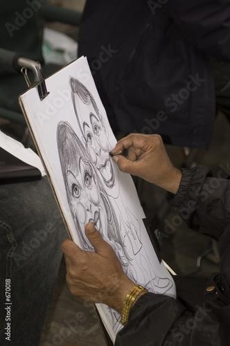 Valokuva  caricaturiste